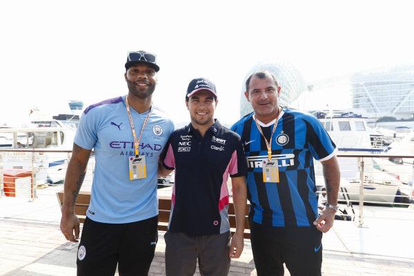 Joleon Lescott, former Manchester City footballer, Sergio Perez, Racing Point, and Dejan Stankovic, former Inter Milan football player
