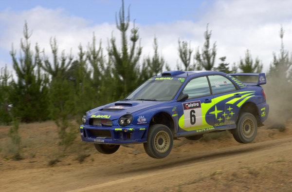 2001 World Rally ChampionshipTelstra Rally Australia, Perth, WA. 1-4 November 2001.Petter Solberg on stage 19.Photo: Ralph Hardwick/LAT