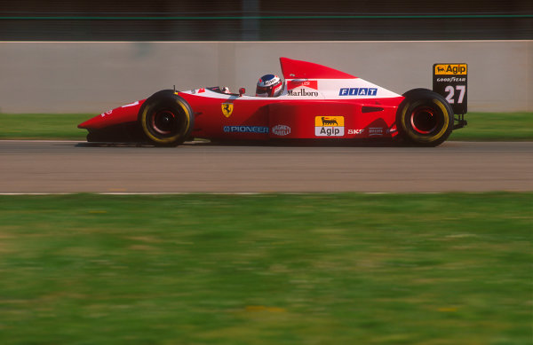 1993 San Marino Grand Prix.Imola, Italy.23-25 April 1993.Jean Alesi (Ferrari F93A). He exited the race with a clutch failure.Ref-93 SM 03.World Copyright - LAT Photographic