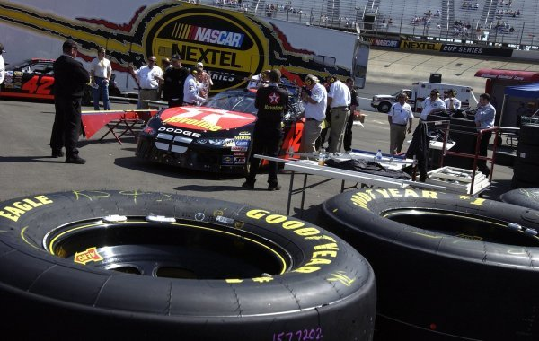 03/26/04 NASCAR Nextel Cup Series.Round 6 of 36. Food City 500. Jamie McMurray's Dodge goes through tech inspection. Bristol, Tennessee, USA.