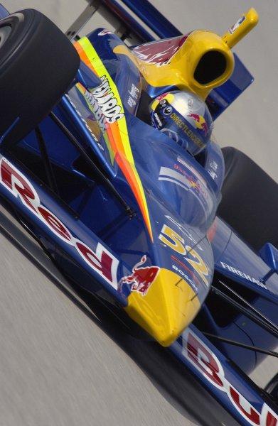 2003 IRL IndyCar Homestead, 2/28-3/2,2003, Homestead-Miami Speedway, USA Buddy Rice turns into turn three.World Copyright-F Peirce Williams 2003 LAT Photographicref: Digital Image Only