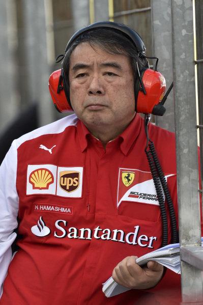Hirohide Hamashima (JPN) Ferrari Tyre Engineer. Formula One Testing, Jerez, Spain, Day Three, Thursday 30 January 2014.