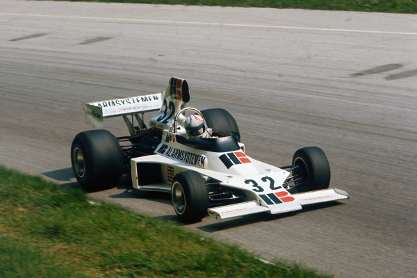 Monza, Italy. 5-7 September 1975. Chris Amon, Ensign N175 Ford. Ref: 75ITA15. World Copyright - LAT Photographic