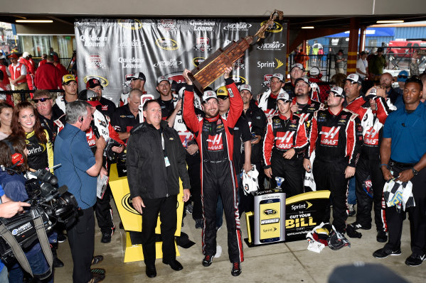 12-14 June, 2015, Brooklyn, Michigan USA Kurt Busch celebrates the win with team in victory lane ?2015 Scott R LePage  LAT Photo USA