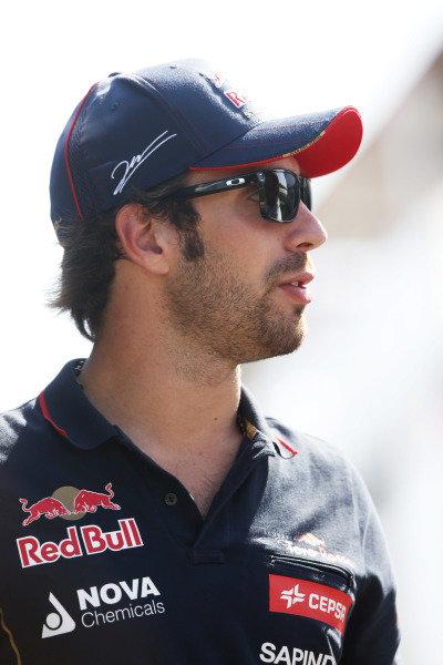 Circuit de Catalunya, Barcelona, Spain. Friday 9 May 2014. Jean-Eric Vergne, Toro Rosso. World Copyright: Charles Coates/LAT Photographic. ref: Digital Image _N7T8388