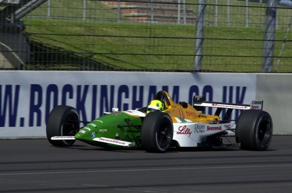 Christian Fittipaldi, (BRA), Toyota/Lola, could only manage twelth fastest in qualifying for the Rockingham 500.  Rockingham Motor Speedway, Corby, GBR.  13  Sept., 2002. CC15A