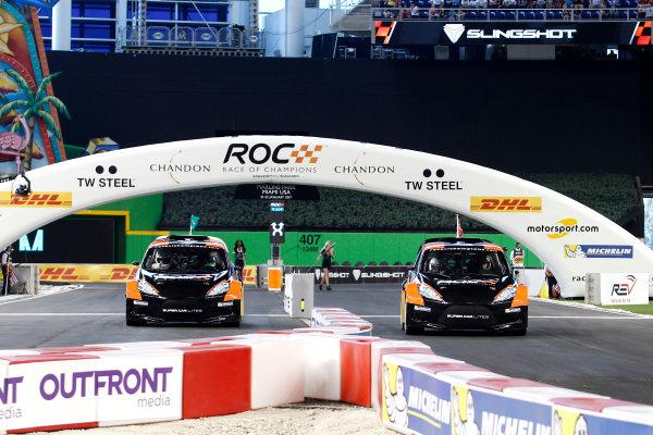 2017 Race of Champions Miami, Florida, USA Saturday 21 January 2017 Felipe Massa and Petter Solberg in the RX Supercar Lite World Copyright: Alexander Trienitz/LAT Photographic ref: Digital Image 2017-RoC-MIA-AT2-0877