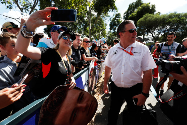 Albert Park, Melbourne, Australia. Thursday 23 March 2017. Zak Brown,McLaren CEO World Copyright: Sam Bloxham/LAT Images ref: Digital Image _W6I0426