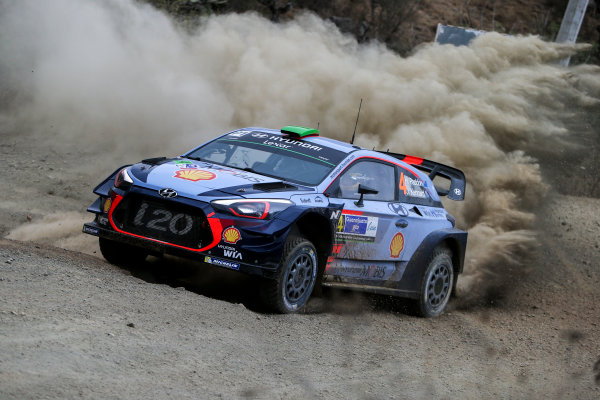 2017 FIA World Rally Championship, Round 03 , Rally Mexico, February 08-12, 2017, Hayden Paddon, Hyundai, Action, Worldwide Copyright: McKlein/LAT