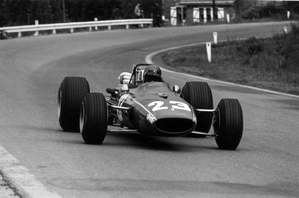 1968 Belgian Grand Prix.Spa-Francorchamps, Belgium. 9 June 1968.Jacky Ickx, Ferrari 312, 3rd position, action.World Copyright: LAT PhotographicRef: 2024 #35A