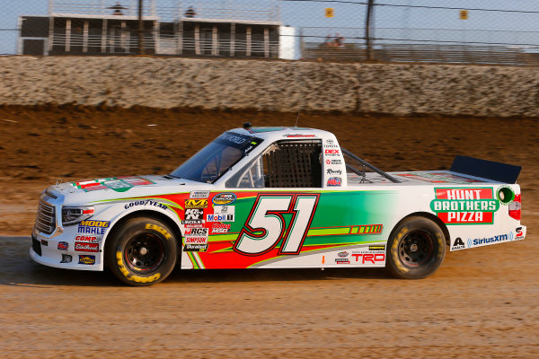 NASCAR Camping World Truck Series Eldora Dirt Derby Eldora Speedway, Rossburg, OH USA Tuesday 18 July 2017 Harrison Burton, Hunt Brothers Pizza Toyota Tundra World Copyright: Russell LaBounty LAT Images