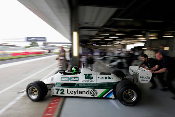 Williams 40 Event Silverstone, Northants, UK Friday 2 June 2017. A Williams FW07 is demonstrated. World Copyright: Zak Mauger/LAT Images ref: Digital Image _56I9585