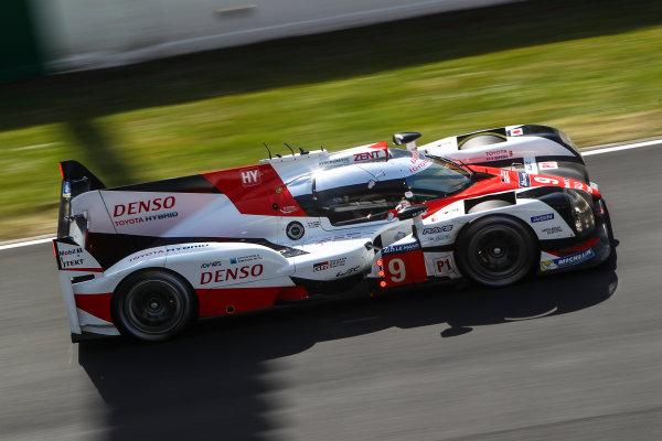2017 Le Mans 24 Hours Test day, Le Mans, France. 4th June 2017. #9 Toyota Gazoo Racing Toyota TS050-Hybrid: Nicolas Lapierre, Yuji Kunimoto, Jose Maria Lopez. World Copyright: JEP/LAT Images.