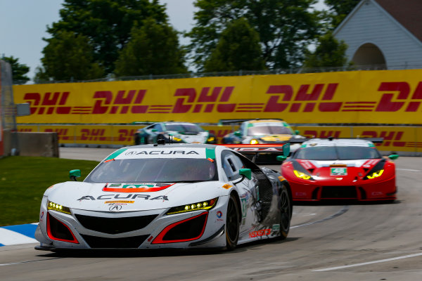 IMSA WeatherTech SportsCar Championship Chevrolet Sports Car Classic Detroit Belle Isle Grand Prix, Detroit, MI USA Saturday 3 June 2017 93, Acura, Acura NSX, GTD, Andy Lally, Katherine Legge World Copyright: Jake Galstad LAT Images