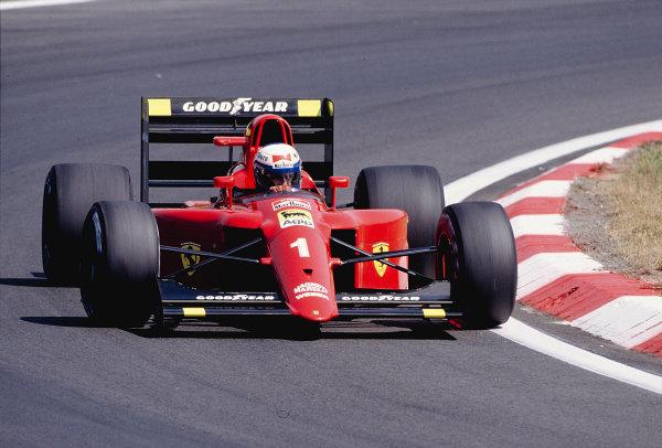 1990 Hungarian Grand Prix.Hungaroring, Budapest, Hungary.10-12 August 1990.Alain Prost (Ferrari 641/2).Ref-90 HUN 11.World Copyright - LAT Photographic