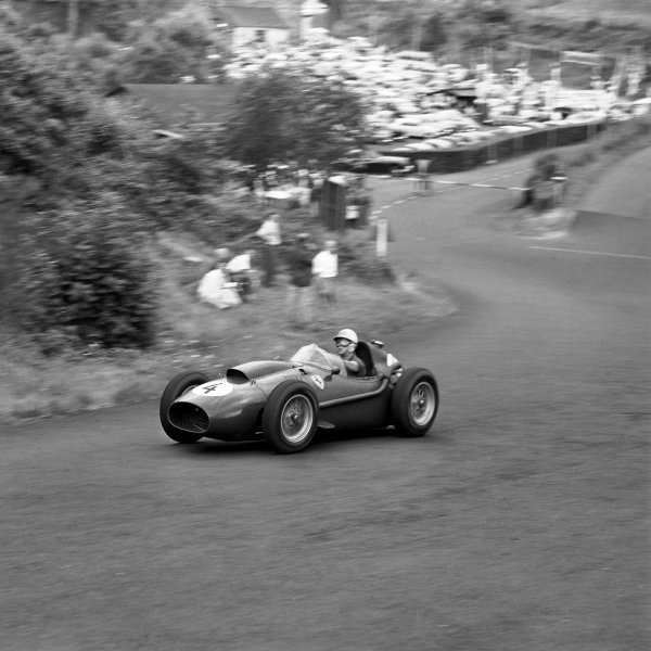 Nurburgring, Germany.1-3 August 1958.Wolfgang von Trips (Ferrari Dino 246) 4th position.Ref-2253.World Copyright - LAT Photographic