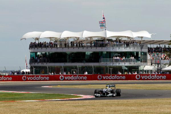 Silverstone, Northamptonshire, England9th July 2010Nico Rosberg, Mercedes GP W01. Action. World Copyright: Andrew Ferraro/LAT Photographicref: Digital Image _Q0C5929
