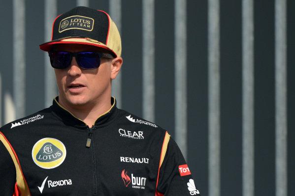 Kimi Raikkonen (FIN) Lotus F1. Formula One World Championship, Rd9, German Grand Prix, Practice, Nurburgring, Germany, Friday 5 July 2013.