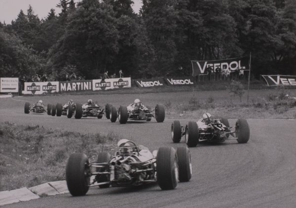 1965 German Grand Prix.Nurburgring, Germany. 1 August 1965.Start of the 15 lap race, action.World Copyright: LAT PhotographicRef: B/W Print