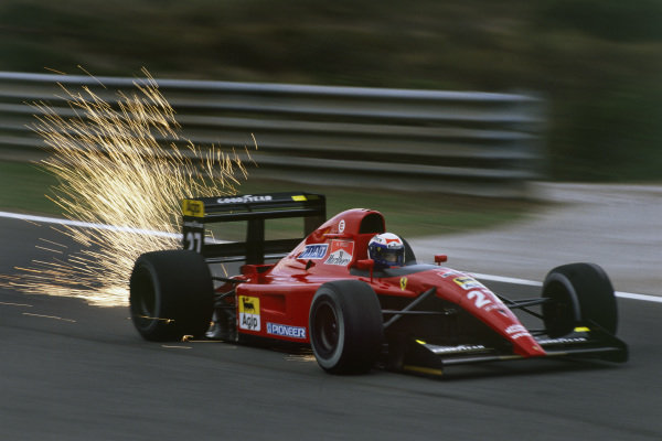 1991 Portuguese Grand Prix.Estoril, Portugal.20-22 September 1991.Alain Prost (Ferrari 643).Ref-91 POR 03.World Copyright - LAT Photographic