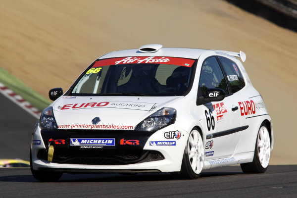 Brands Hatch, Kent. 1st - 2nd October 2011.Mark Proctor (GBR) Total Control Racing Renault Clio Cup.World Copyright: Ebrey/LAT Photographic.