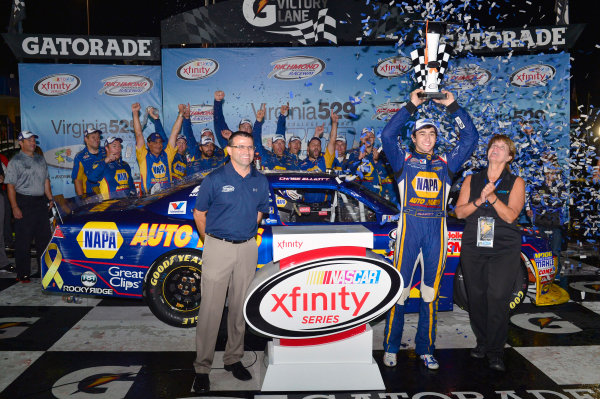 10-11 September, 2015, Richmond, Virginia USA Chase Elliott celebrates his win in Victory Lane ? 2015, Nigel Kinrade LAT Photo USA