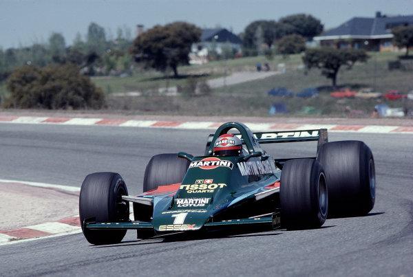 1979 Spanish Grand Prix.Jarama, Madrid, Spain.27-29 April 1979.Mario Andretti (Lotus 80 Ford) 3rd position.Ref-79 ESP 07.World Copyright - LAT Photographic