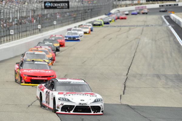 #20: Harrison Burton, Joe Gibbs Racing, Toyota Supra DEX Imaging, #7: Justin Allgaier, JR Motorsports, Chevrolet Camaro BRANDT