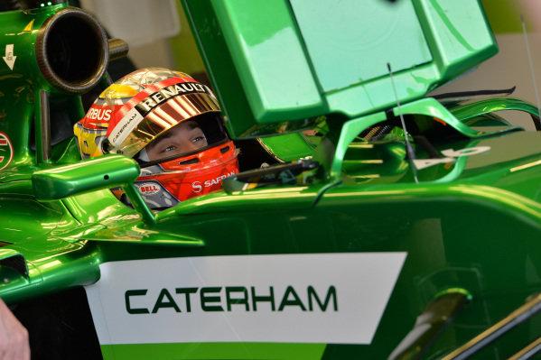 Robin Frijns (NED) Caterham CT05.Formula One World Championship, Rd9, British Grand Prix, Practice, Silverstone, England, Friday 4 July 2014.