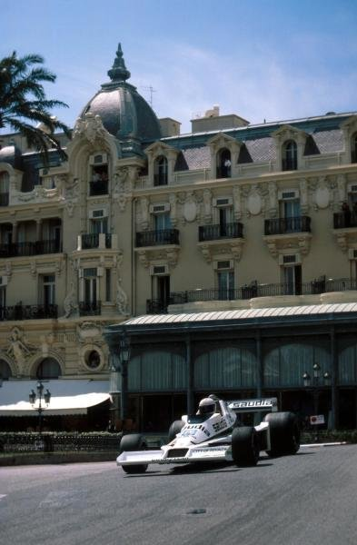 Alan Jones (AUS) Williams FWO6 retired with an oil leak. Monaco Grand Prix, Monte Carlo, 7 May 1978.
