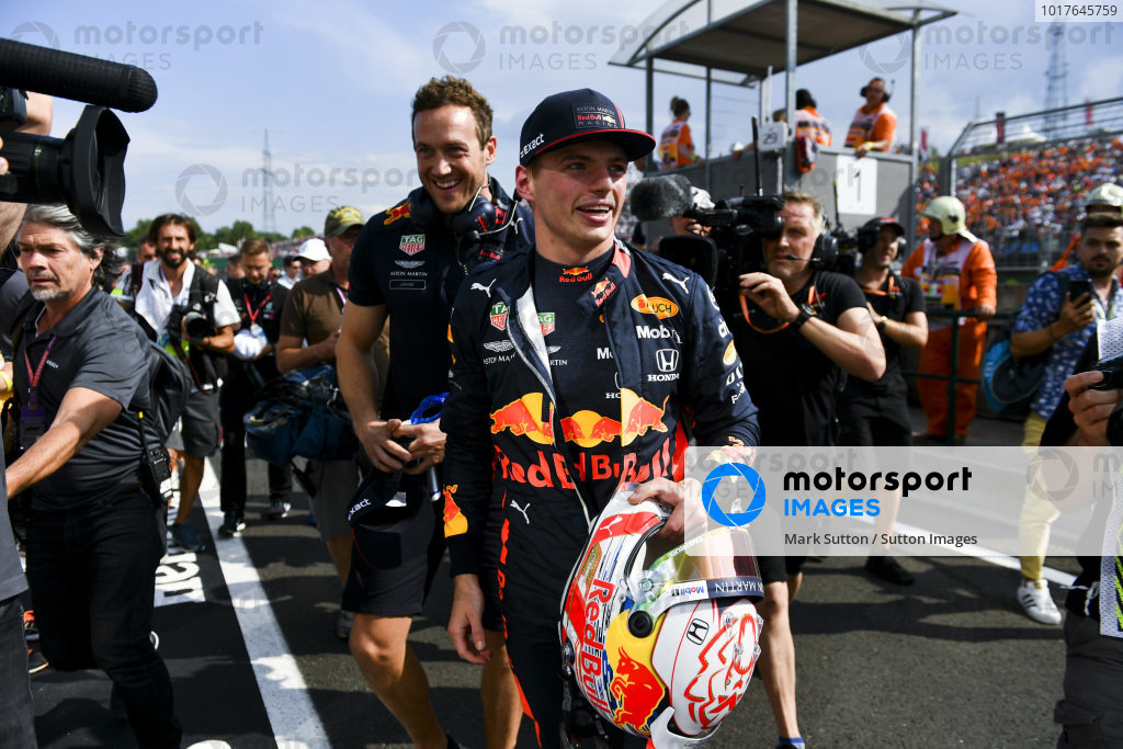 Ple Sitter Max Verstappen, Red Bull Racing celebrates in parc ferme