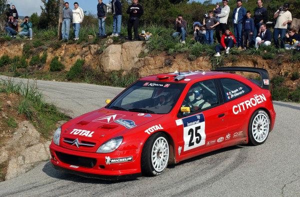 2002 World Rally ChampionshipInmarsat Corsica Rally, 8th-10th March 2002.Philippe Bugalski on stage 13.Photo: Ralph Hardwick/LAT