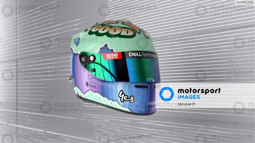 Daniel Ricciardo helmet - front