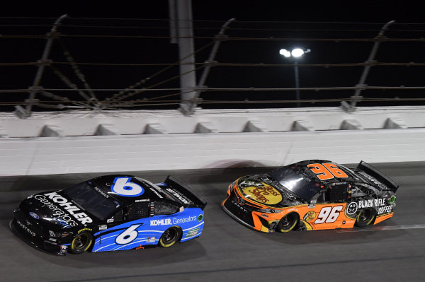 #6: Ryan Newman, Roush Fenway Racing, Ford Mustang Kohler Generators #96: Ty Dillon, Gaunt Brothers Racing, Toyota Camry Bass Pro Shops / Black Rifle Coffee