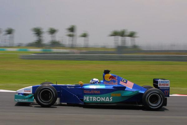 2001 Malaysian Grand Prix.Sepang, Kuala Lumpur, Malaysia.16-18 March 2001.Kimi Raikkonen (Sauber Petronas).World Copyright - LAT PhotographicRef-8 9MB Digital