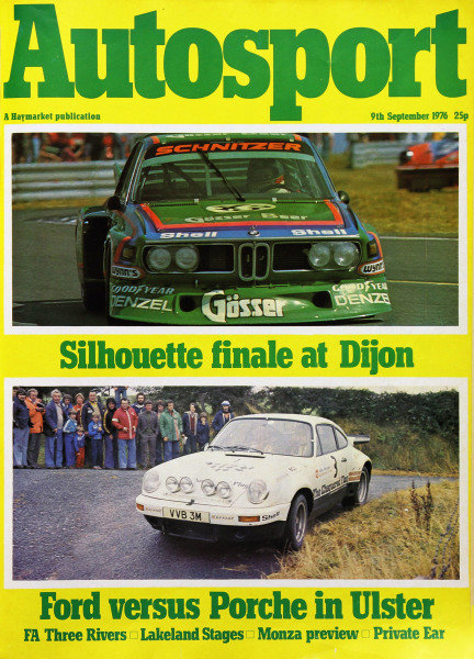Cover of Autosport magazine, 9th September 1976