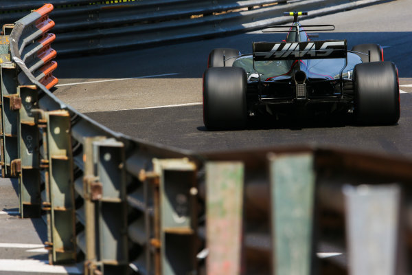 Monte Carlo, Monaco. Thursday 25 May 2017. Kevin Magnussen, Haas VF-17 Ferrari. World Copyright: Charles Coates/LAT Images ref: Digital Image AN7T2988