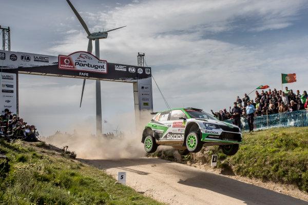 2017 FIA World Rally Championship, Round 06, Rally Portugal, May 18 - 21 2017, Pontus Tidemand, Skoda, action, Worldwide Copyright: McKlein/LAT