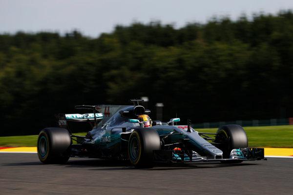 Spa Francorchamps, Belgium.  Friday 25 August 2017. Lewis Hamilton, Mercedes F1 W08 EQ Power+.  World Copyright: Glenn Dunbar/LAT Images  ref: Digital Image _31I4684