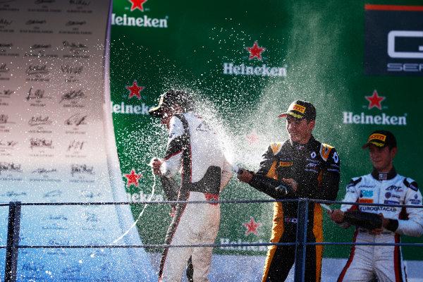 Autodromo Nazionale di Monza, Italy. Sunday 3 September 2017 Jack Aitken (GBR, ART Grand Prix).George Russell (GBR, ART Grand Prix).Anthoine Hubert (FRA, ART Grand Prix) Photo: Mauger/GP3 Series  ref: Digital Image _W6I4500