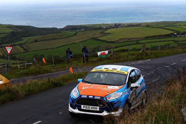 2017 Prestone MSA British Rally Championship, Rally Isle of Man. 14th - 16th September 2017. Gee Atherton / Keaton Williams Ford Fiesta R2T. World Copyright: JEP/LAT Images