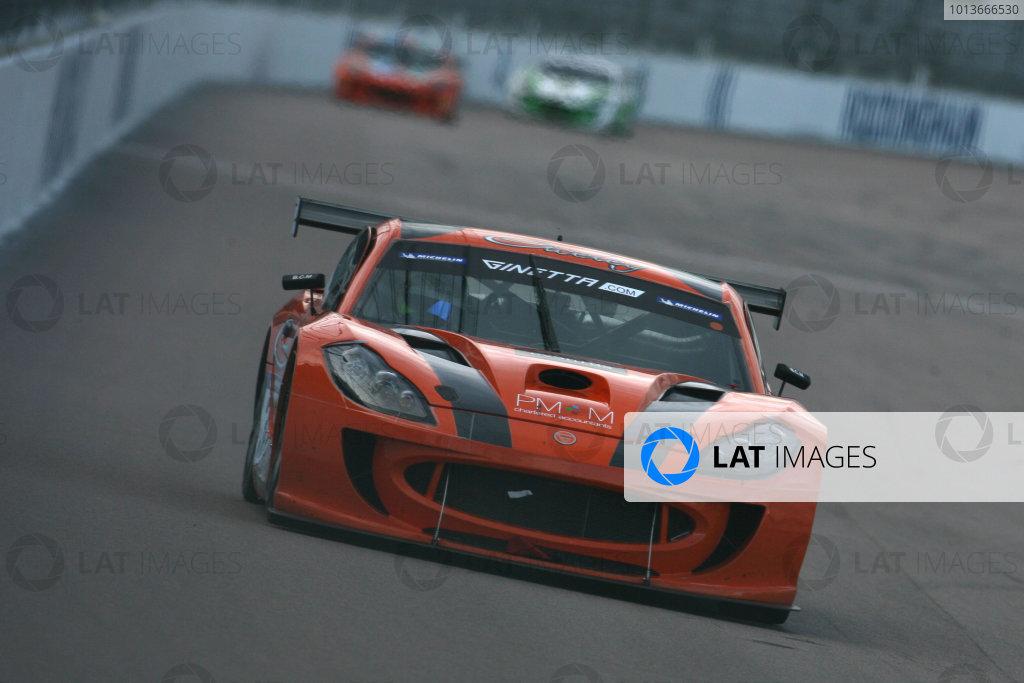 Rockingham, Northamptonshire. 17th - 18th September 2011.Adam Morgan (GBR) Ciceley Racing Ginetta G55.World Copyright: Ebrey/LAT Photographic.