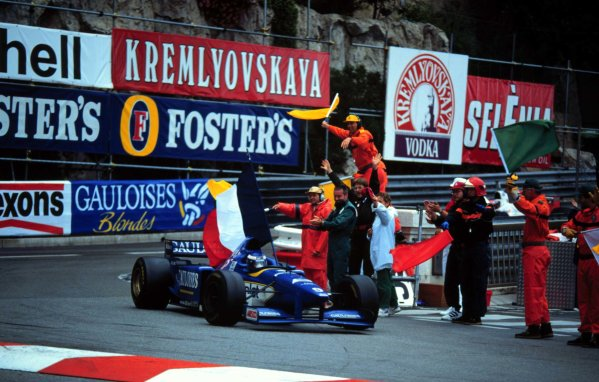 Monaco Grand Prix.Monte Carlo, Monaco.16-19 May 1996Olivier Panis (Ligier JS43 Mugen-Honda) 1st position.World Copyright - LAT Photographic