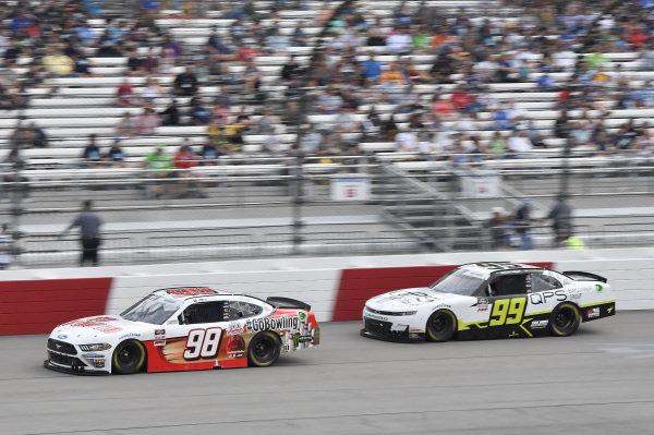 #98: Riley Herbst, Stewart-Haas Racing, Ford Mustang Go Bowling, #99: Sam Mayer, B.J. McLeod Motorsports, Chevrolet Camaro QPS Employment Group