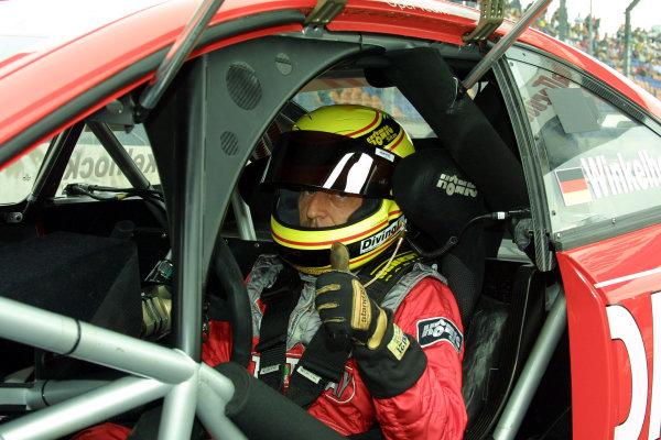 2002 DTM Championship Lausitzring, Germany. 12th - 14th July 2002.Joachim Winkelhock (Phoenix Opel Astra V8 Coupe).World Copyright: Andre Irlmeier/LAT Photographic