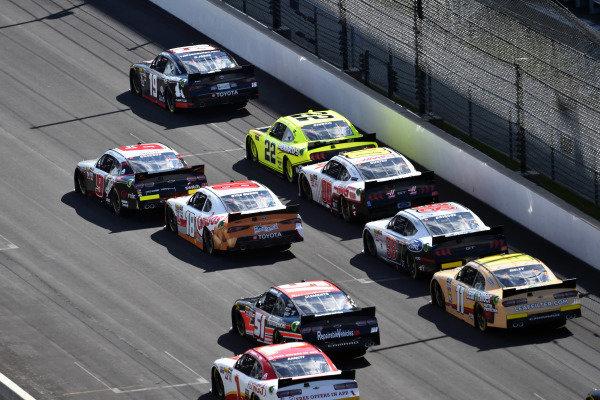 #19: Brandon Jones, Joe Gibbs Racing, Toyota Supra First Foundation and #22: Austin Cindric, Team Penske, Ford Mustang Menards/Richmond