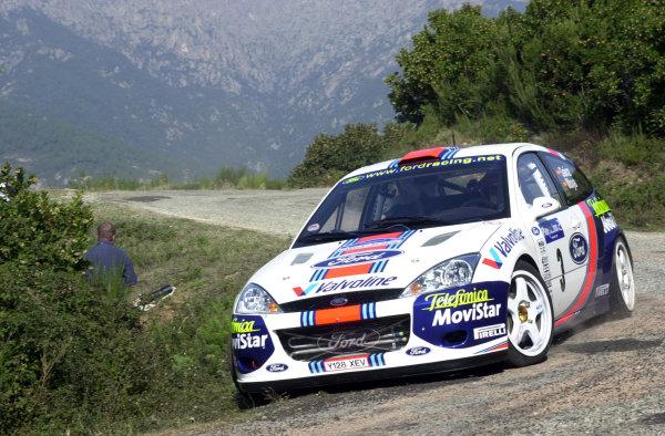 2001 World Rally Championship.Rallye de France, Ajaccio, Corsica, October 19-21.Carlos Sainz during shakedown.Photo: Ralph Hardwick/LAT