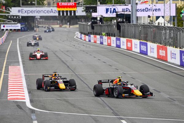 Juri Vips (EST, Hitech Grand Prix) and Liam Lawson (NZL, Hitech Grand Prix)