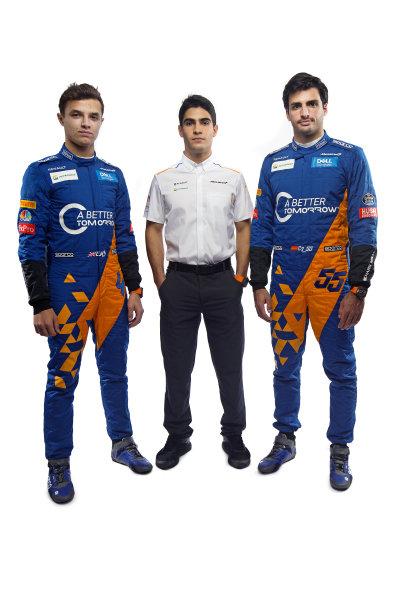Lando Norris, McLaren, Sergio Sette Camara, McLaren and Carlos Sainz Jr, McLaren