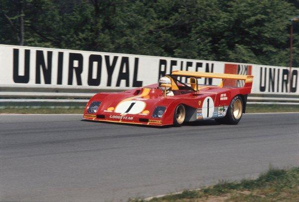 1973 Nurburgring 1000 kms.  Nurburgring, Germany. 27th May 1973.  Brian Redman, Ferrari 312PB, 1st position, action. World Copyright: LAT Photographic.